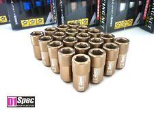 Bronzo ORIGINALE d1-SPEC CALOTTA Lug Nuts per ruote m12 x 1.25 Set 20 D 1 SPEC ø19mm