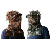 Woodland Camo 3D Sneaky Cap with Face Mask Paintball Cap Hunting Ghilie Hat