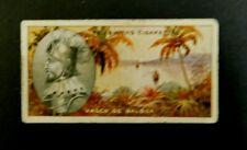 Cigarette Card F.& J.Smith's Famous Explorers 1911 Vasco de Balboa  #17