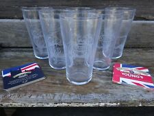 6 VERRES YOUNGS YOUNG'S YOUNGS OF LONDON GLASSES 12 SOUS BOCKS OFFERTS