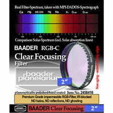 "Baader Clear Glass Filter for Focusing or Dust Protection - 2"" # FC-2 2458416"