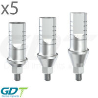 5 Straight Shoulder Abutment For Conical RP, Active Hex, Dental Implants