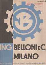 BELLONI MILANO 1948 ARGANO PARANCO CARRELLI TRASPORTO ELEVATORI TRASPORTATORI