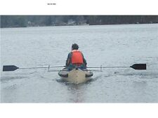 Row Outriggers for Canoe with Oars Included -- Rowing Beats Paddling!