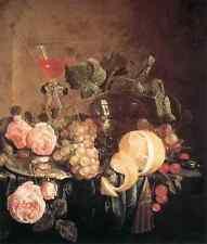 Heem Jan Davidsz De Bodegones Con Flores Y Frutas A4 impresión
