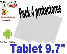 "Pack 4 Protectores Universales pantalla para Tablet de 9.7"" 9.7"