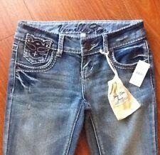 Women's Juniors Vanilla Star Jeans Denim With Beads Size 1 New