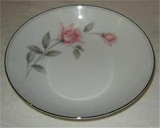 Noritake Rosemarie Four Coupe Soup Bowls, Pink Roses with Platinum Trim