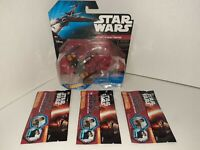 Hot Wheels Star Wars X-wing Fighter and 3 TOPPS Star Wars Galactic Connexions!