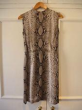 Lanvin 100% silk beige print dress UK 10 Alber Elbaz WORN ONCE