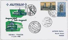 ITALIA storia postale - PRIMI VOLI - catalogo PELLEGRINI 353BB : PRAGA 1960