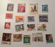 CANADA USED Christmas Stamp LOT: 3 5 6 7 8 cent stamps