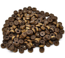 50 Wood Beads - Natural Wooden Spacer Rondelle Beads -BD680