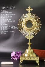 Ornate Brass Monstrance Reliquary for Church with Tabor Pedestal TP-8-X93