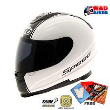 MT Thunder Speed Full Face Motorcycle Motorbike Scooter Crash Helmet. ACU Gold