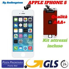 DISPLAY LCD+TOUCH SCREEN per APPLE IPHONE 5 BIANCO RETINA VETRO A1442 A1428 1429