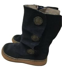 LN Livie & Luca Shoes Boots Marchita Navy Blue Suede Leather 6