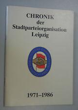 Cronología de la ciudad de organización del partido Leipzig sed/DDR 1971-1986