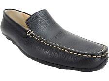 Geox Men's U Monet New Dress Black Penny Loafer Leather Size EU 43/US 10 M