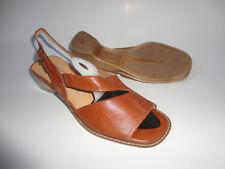 Gabor Sandalette Ballerinas Schuhe Gr.7 1/2  Gr.41-41,5 braun  zu Kleid Rock Neu