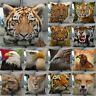Vivid Animals Head Pillow Cases Tiger Eagle Throw Cushion Cover Sofa Couch Decor