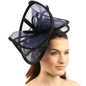 Feathers 3 Tier Layer 2 Tone Headband Fascinator Millinery Cocktail Hat