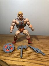 VINTAGE 1981 HE-MAN ACTION FIGURE W/ SWORD AXE VEST & SHIELD POWER-PUNCH WORKS