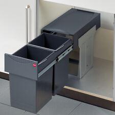Kitchen Waste Bin - HAILO TANDEM 30 - Double-bin waste sorter, 2 x 15 litres