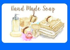 21  PERSONALISED GLOSSY  HAND MADE SOAP BATH BOMB LABELS CRAFT  SPA STICKERS
