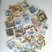 100 Commemorative Christmas stamp bundle joblot on paper unpicked old recent