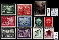 ALLEMAGNE : 11 Timbres de 1939, Neufs **/* = Cote 54 € / Lot ÉTRANGERS
