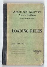 1930 AMERICAN RAILWAY ASSOCIATION Loading Rules LUMBER Stone TRAINS RR B&A Train