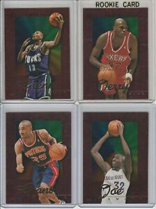 90's INSERTS LOT (4/10) 1995-96 HOOPS POWER PALETTE HILL STACKHOUSE RC 1:32 ODDS