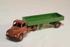 BRITAINS LILLIPUT FORDSON AUSTIN TRUCK WITH TRAILER BROWN GREEN EXCELLENT RARE.