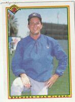 FREE SHIPPING-MINT-1990 Bowman Dan Plesac #386 BREWERS PLUS BONUS CARDS