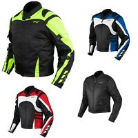 Textile Summer Jacket CE Armored Racing Motorbike Motorcycle Windproof