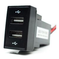 Ford Ranger Mazda BT50 Dual USB Plug 5v 3.1amp Output 39mmx23mm Blue Backlight