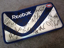 MONTREAL CANADIENS Team SIGNED Goalie Blocker New w/ COA Price Pacioretty Weise+