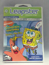 LEAP FROG LEAPSTER LEARNING GAME SPONGEBOB SQUAREPANTS SAVES THE DAY