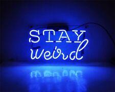 """14""""x9"""" STAY Weird Neon Light Sign Club Room Decor Handcraft Lamp Art Poster"""