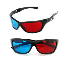 5x Black Frame Red Blue 3D Glasses For Dimensional Anaglyph Movie Game DVD JD