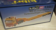 Kibri H0 13582 Mercedes Benz MB Sk Schwerlast Tiefbettauflieger __ NEU