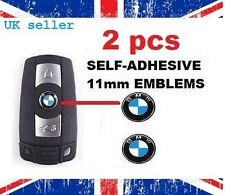 2 x REMOTE KEY FOB BADGE LOGO emblème autocollant 11 mm BMW 1 2 3 5 6 7 m³ M5 X5/-9 -