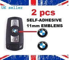 2 X Remoto Clave Fob Insignia logo emblema adhesivo 11MM Para BMW 1 2 3 5 6 7 M3 M5 X5 X