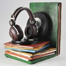 Record Player And Vinyl Records Shelf Tidy Bookends
