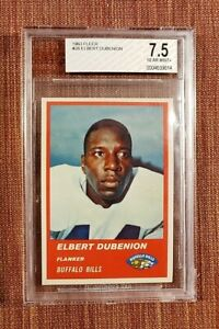 1963 Fleer #26 Elbert Dubenion Buffalo Bills Original Football Card BVG 7.5 NM+