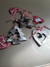BNWT 3 X WOODEN BELL HANGING DECORATION