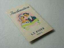 Inclination parfum  L. T. Piver Paris carte parfumée publicitaire ancienne