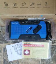 4-Way Emergency Solar Hand Crank Disaster Weather Alert Radio 2000mAh Power Bank