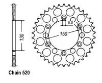 KR Kettenrad 38Z Teilung 520 HONDA XL 600 LM Paris Dakar 85-87 ... Rear sprocket